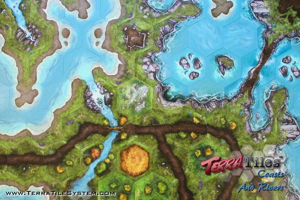 TerraTiles: Coasts and Rivers - Modular Tabletop Terrain